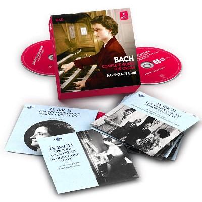 Johann Sebastian Bach / Marie-Claire Alain - Bach: Varhaní Dílo - Komplet (15CD BOX, 2018)