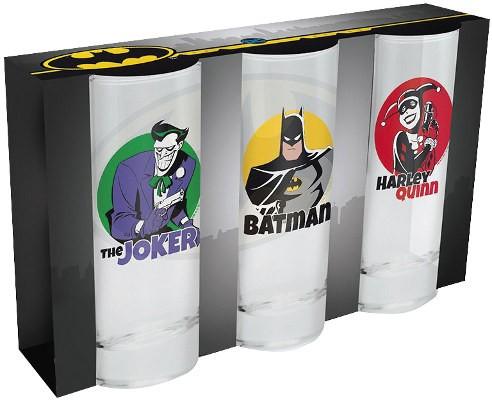 DC Comics / Sklenice - Sklenice DC Comics set 3 ks