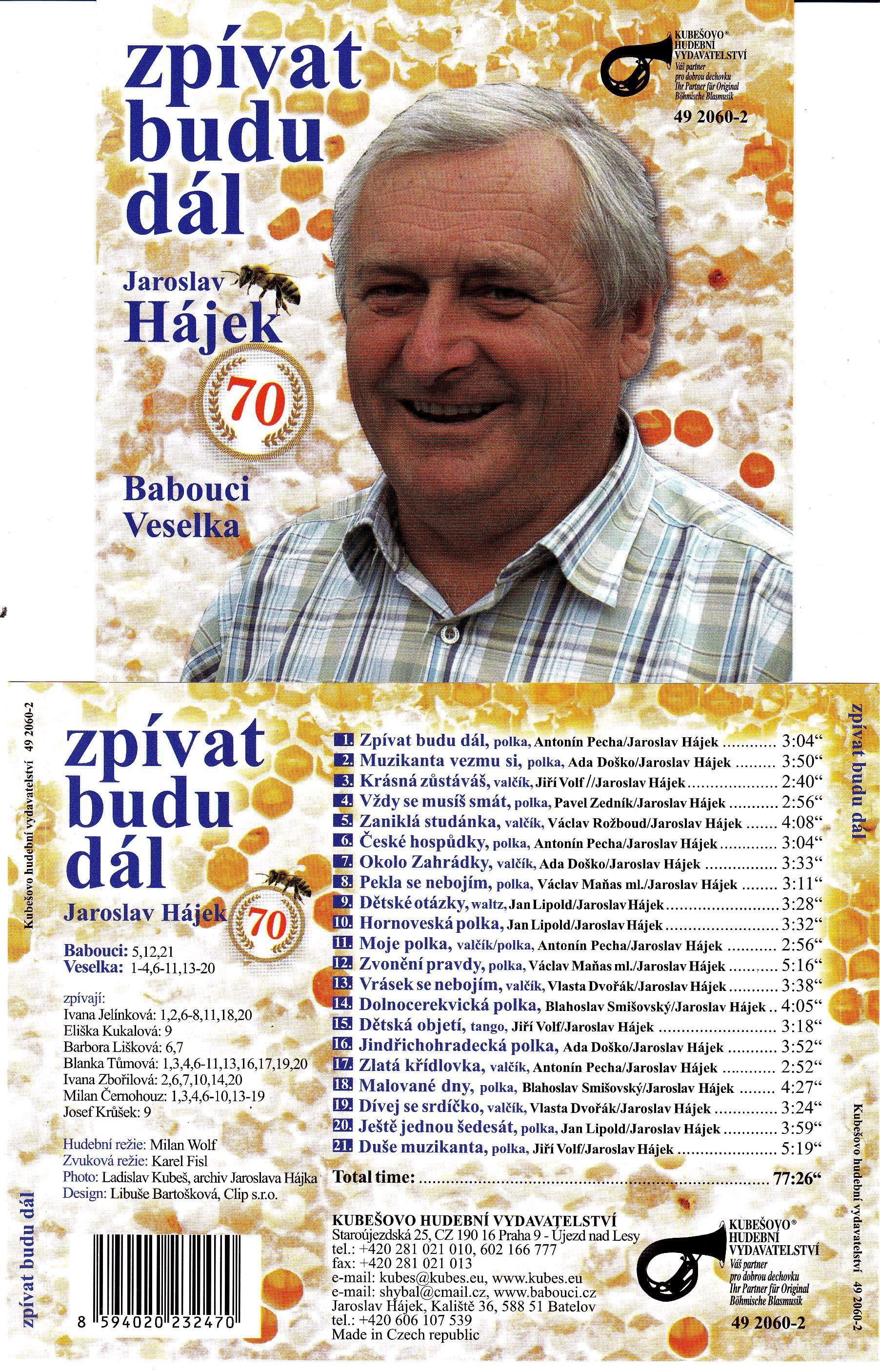 Babouci / Veselka / Jaroslav Hájek - Zpívat Budu Dál