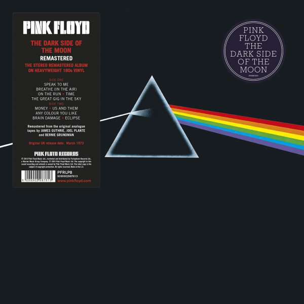 Pink Floyd - Dark Side Of The Moon /180gr.vinyl-edice 2016,remaster 2011