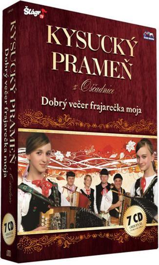 Kysucký prameň - Dobrý večer frajárečka  moja (7CD Box) DVD OBAL