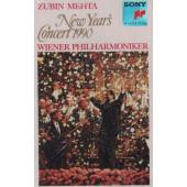 Zubin Mehta / Vídenští filharmonici - New Year's Concert 1990 / Novoroční koncert 1990 (Kazeta, 1991)