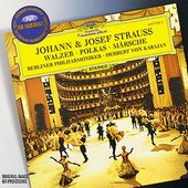 Berliner Philharmoniker - JOHANN & JOSEF STRAUSS Waltzes /  Karajan