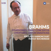 Nikolaus Harnoncourt - Brahms: Symphonies, Piano Concertos, Overtures, Haydn Variations (5CD, 2016)