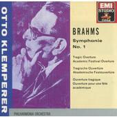 Johannes Brahms - Symphony No. 1 In C Minor, Op. 68 / Otto Klemperer TRAGIC OVERTURE, OP.81