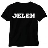 Jelen - Tričko černé (S)  - Logo