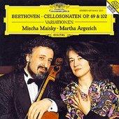 Beethoven, Ludwig van - BEETHOVEN Cellos Sonatas 3,4,5 / Argerich, Maisky