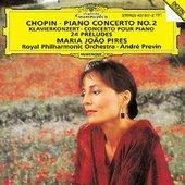 Maria Joao Pires - CHOPIN 2. Piano Concerto, Préludes / Pires, Previn