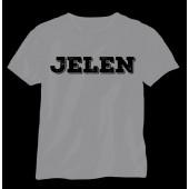 Jelen - Tričko šedé  (M)  - Logo