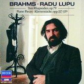 Brahms, Johannes - Dvě rapsodie-opus 79,klavírní skladby opp.117-119