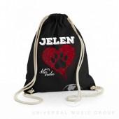 Jelen / Batoh - Batoh černý s motivem - Vlčí srdce