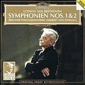 Beethoven, Ludwig van - BEETHOVEN Symphonies Nos. 1 + 2 / Karajan