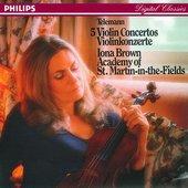 Telemann, Georg Philipp - Telemann: Five Violin Concertos - Brown, Academy o
