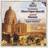 Choir of Westminster Abbey - PALESTRINA Missa Papae Marcelli + ALLEGRI /Preston