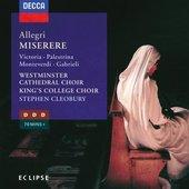 Gregorio Allegri - Allegri Miserere Choir of Westminster Cathedral