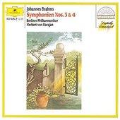 Brahms, Johannes - BRAHMS Symphonies Nos.3  + 4  / Karajan